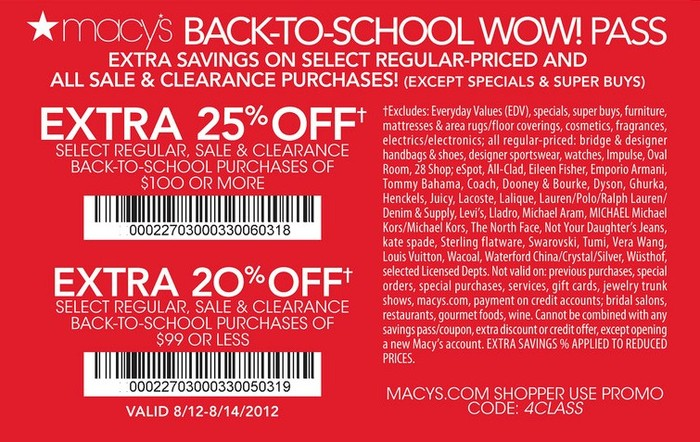 Macy's offers a variety of coupons and promotions every day. Check your Macy's Wallet for Star Passes and other offers. Check out our article How to Save at Macy's: 8 Hacks for Savvy Shoppers for even more ways to save at Macy's! How to get Free Shipping at Macy's. Macy's offers free shipping on orders of $99 or more, and will occasionally offer a free shipping promo code.