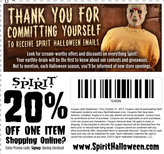 Discount coupons for halloween costumes