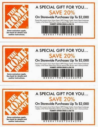 Home depot coupon code online