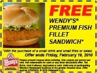 free-printable Wendys coupon download