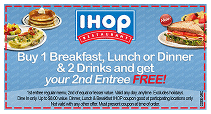 iHop Coupons 2017 Printable Coupon