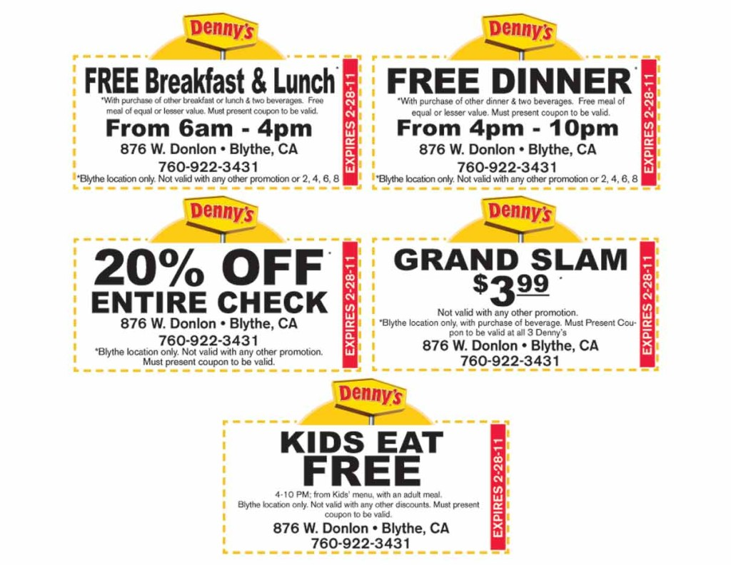 denny menu coupons