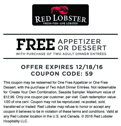 picture relating to Red Lobster Printable Menu identified as Crimson Lobster savings and discount codes Get Your Printable Discount codes
