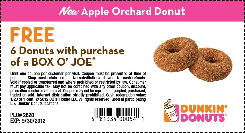 dunkin-donuts 2018 coupons