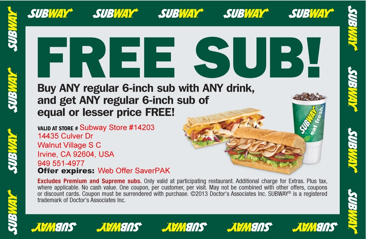 Subway coupons appleton wi