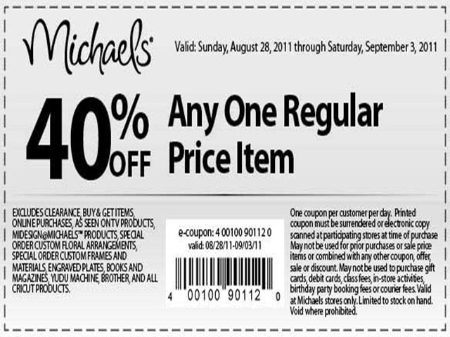 Michaels Crafts Printable Coupon